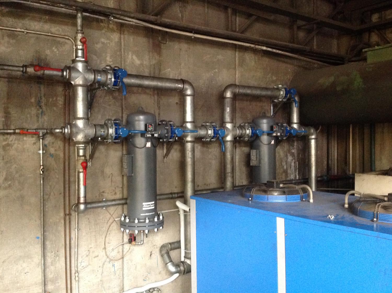 Centrale aria compressa acciaio zincato