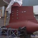 Spostamento motore navale con cuscini d'ara