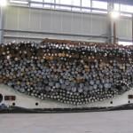 spostamento tondini acciaio con cuscini d'aria