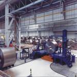 Spostamento bobine acciaio